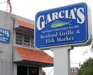 Garcia 39 s seafood grille fish market three guys from miami for Garcia s seafood grille fish market