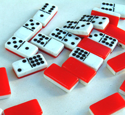 Red Backed Dominoes
